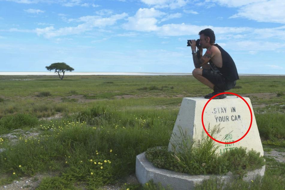Die Inschrift des Steins hat der 28-Jährige sehr wohl gelesen.