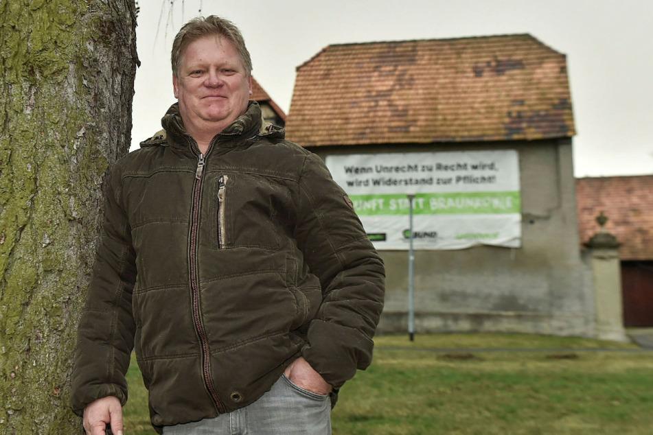 """Will die Wiederbesiedlung des Dorfes möglichst bald: Jens Hausner (55), Bürgerinitiative """"Pro Pödelwitz""""."""