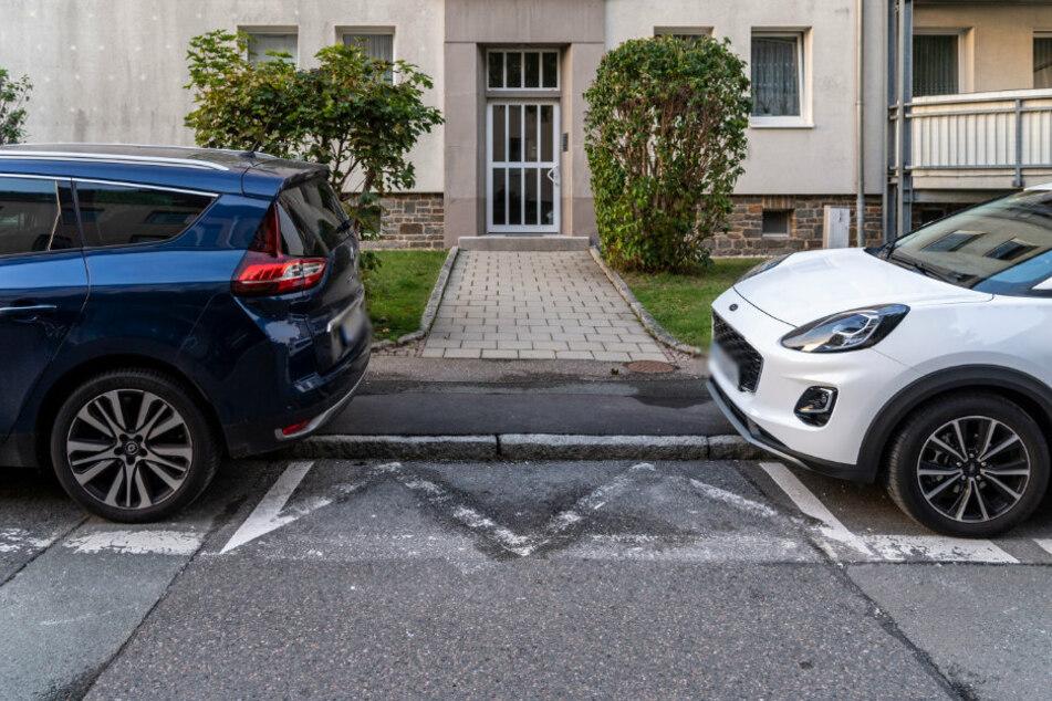 Chemnitz: Linien-Wirrwarr am Straßenrand raubt Anwohnern Parkplätze