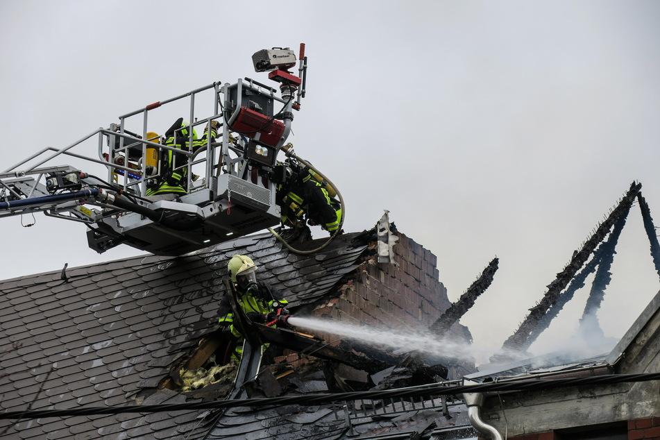 Der Dachstuhl wurde bei dem Brand zerstört.