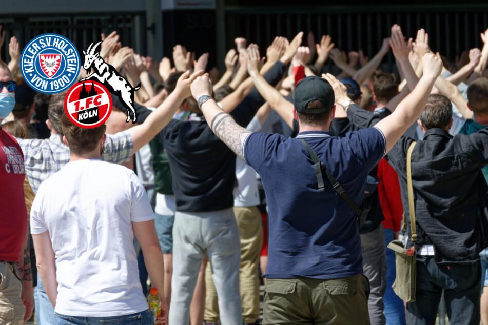 Relegationsspiel in Kiel: Polizei nimmt Kölner Fans vorm Stadion fest