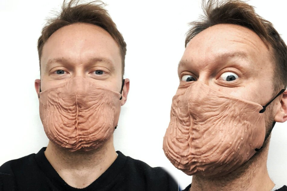 People are going nuts for a British man's ballsy mask design