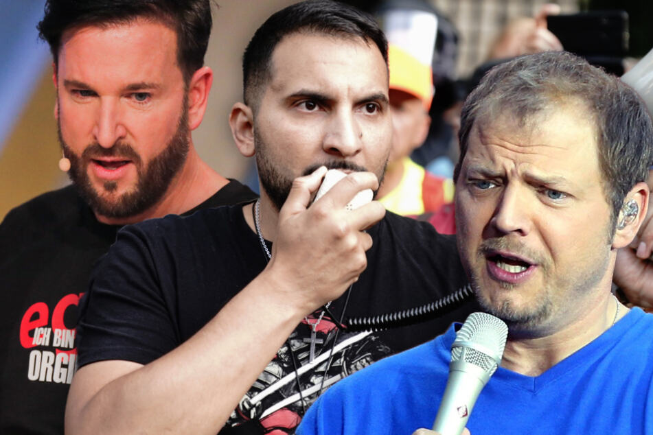 Sänger Michael Wendler (48, v.l.n.r), Kochbuchautor Attila Hildmann (39) und Comedian Mario Barth (47). (Bildmontage)