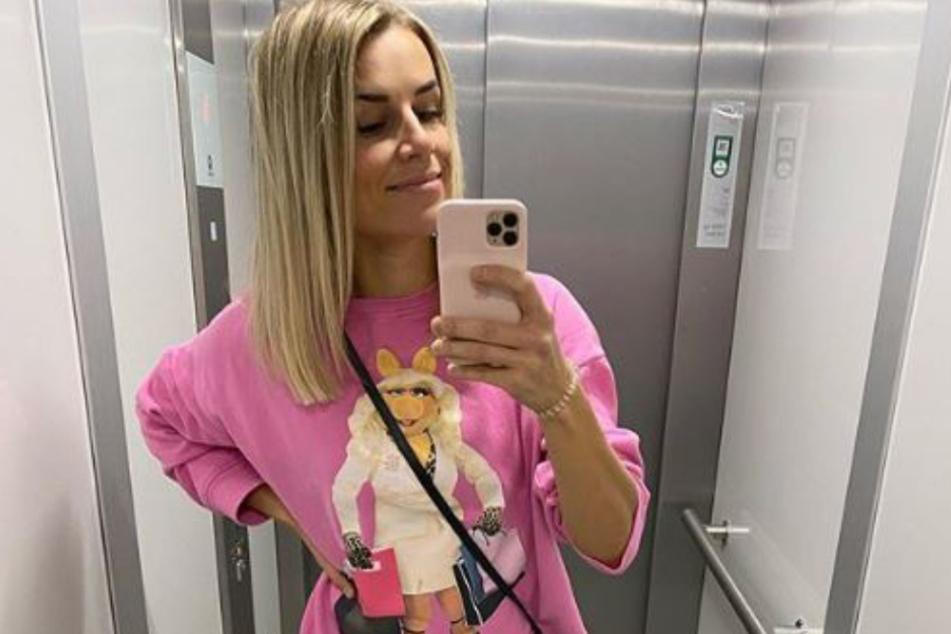 Adrienne Koleszár (35) auf einem sexy Insta-Selfie.