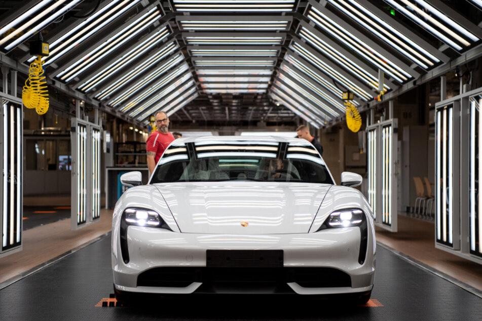Die Produktion der Porsche in Stuttgart.