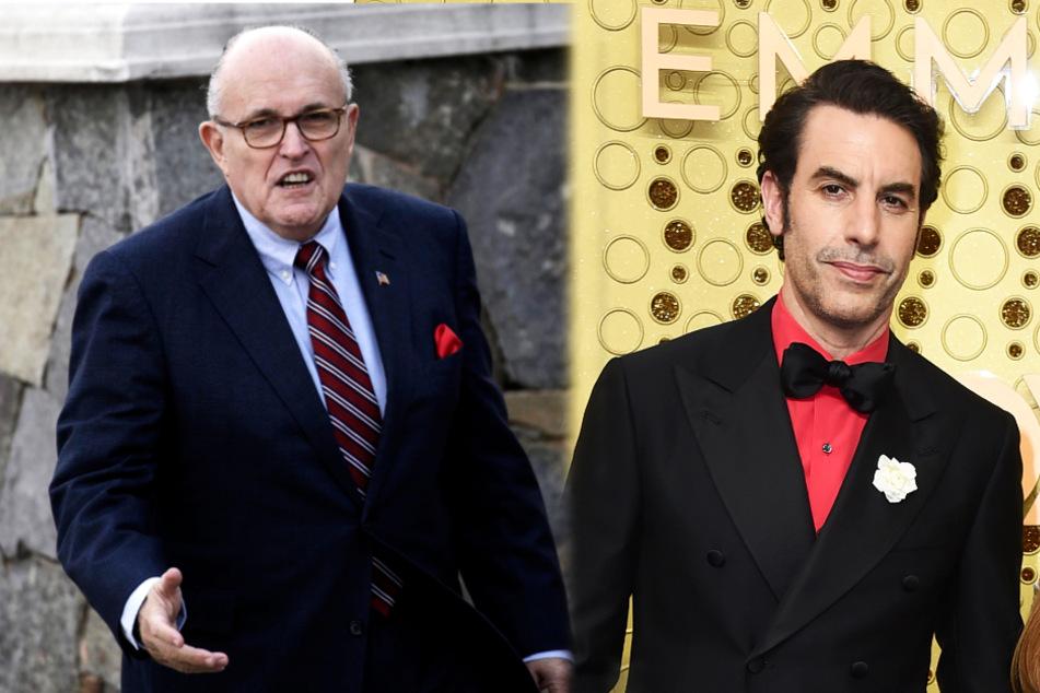 """Sacha Baron Cohen spielt Trump-Anwalt Streich in rosa """"Transgender-Outfit""""!"""