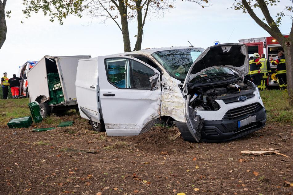 Schwerer Unfall im Weimarer Land: Fahrer reanimiert