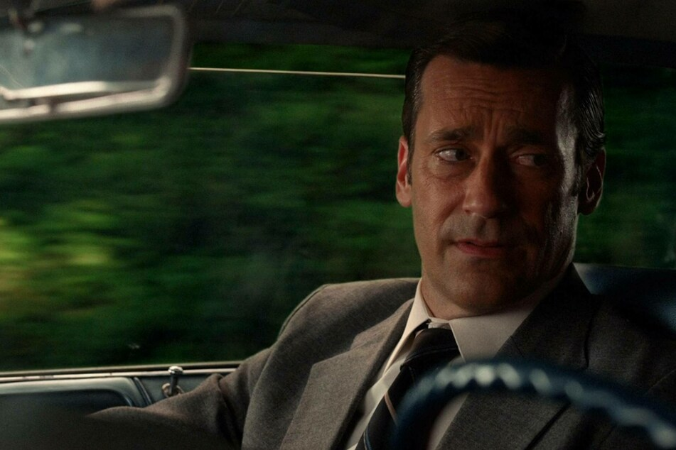 Jon Hamm as Don Draper in the TV series Mad Men.