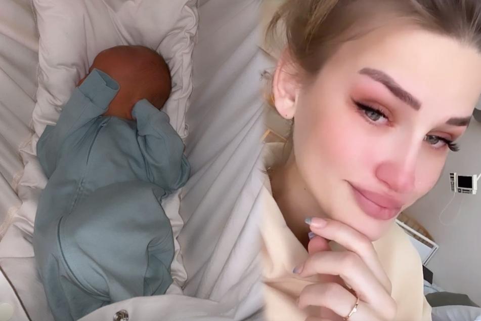 Ex-GNTM Neele Bronst nach der Geburt tränenüberströmt: War ihr Ex an ihrer Seite?