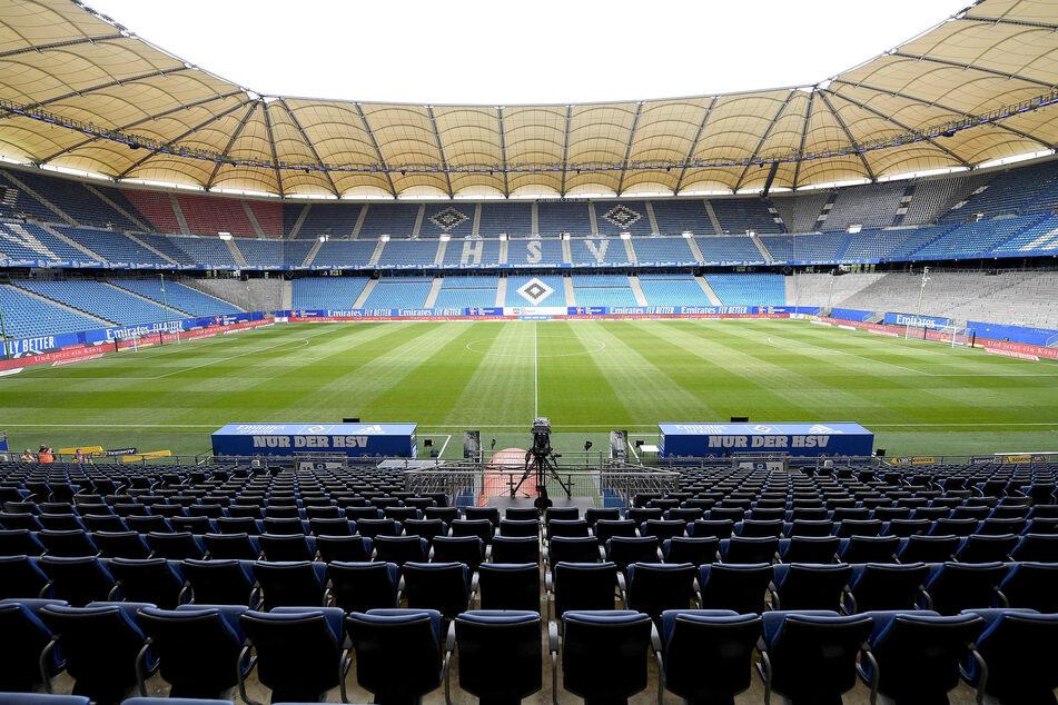 Blick in das leere Volksparkstadion.