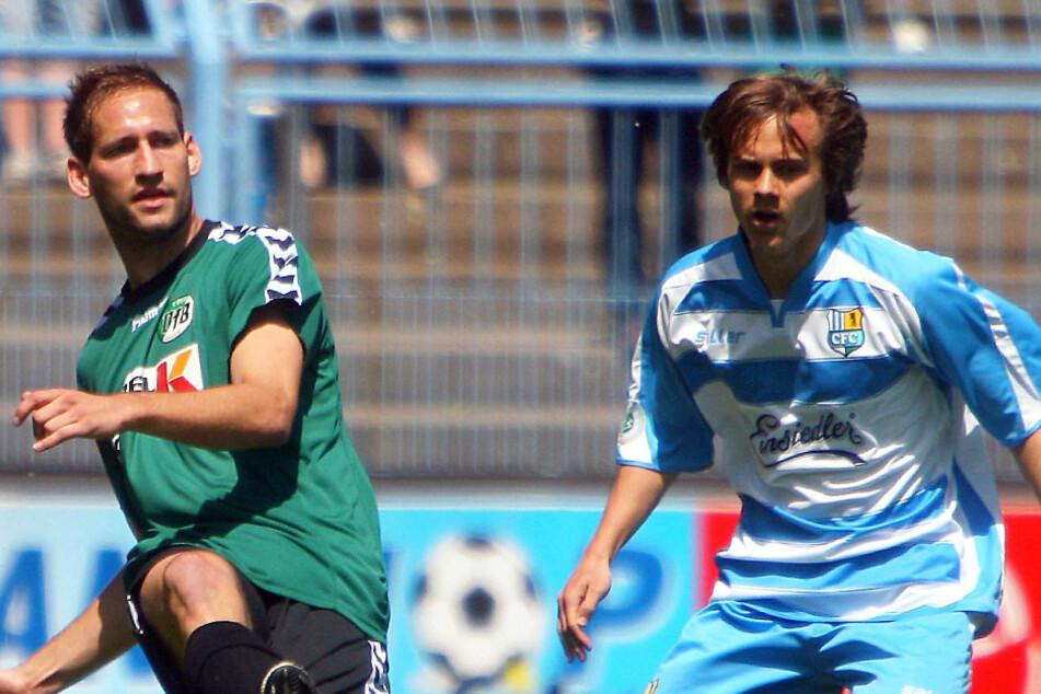 Vor knapp zehn Jahren spielte Chris Löwe (r.) mit Chemnitz letztmals gegen den VfB Lübeck. 0:0 hieß es im März 2011 an der Ostsee.