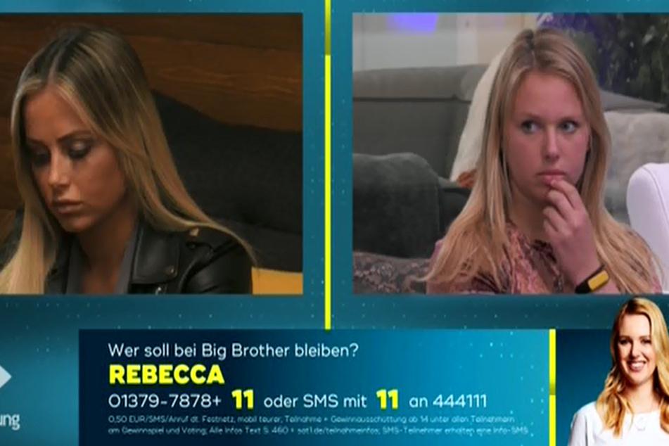 Diese beiden standen auf der Exit-Liste: Jade (26, l.) und Rebecca (21). Für Jade hat es leider nicht gereicht. Sie ist raus!