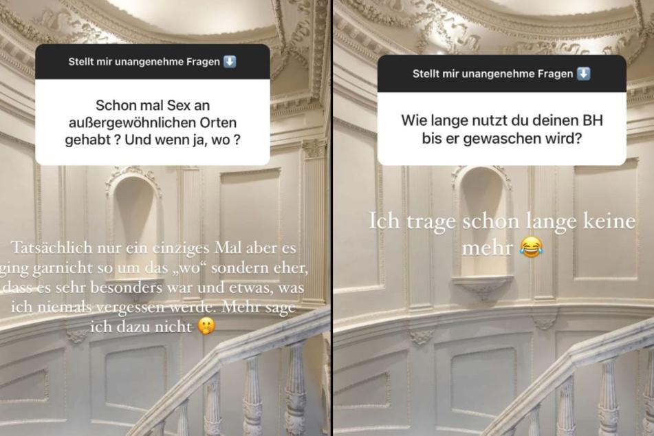 Gerda Lewis (27) offenbart in ihrer Instagram-Story pikante Details. (Fotomontage)