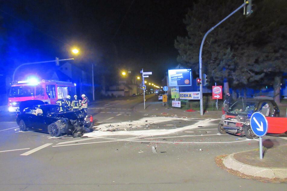 Der Zusammenstoß ereignete sich auf einer Kreuzung.