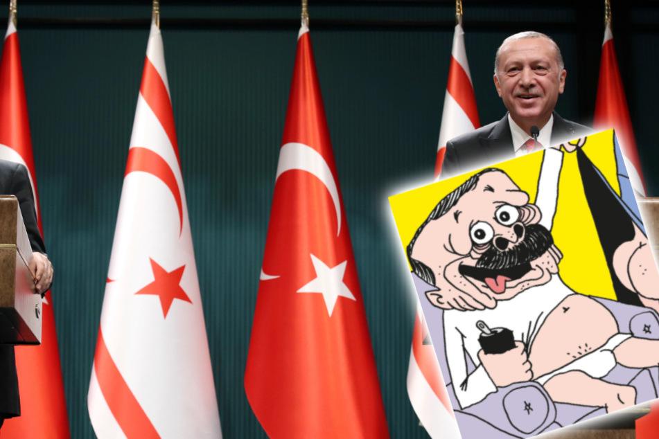 Erdogan als perverser Opa: Neuer Charlie-Hebdo-Comic sorgt für Aufruhr