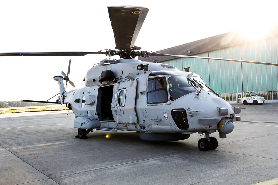 """Ein Marinehubschrauber vom Typ NH90 """"Sea Lion"""" wird Teil der Übung sein."""