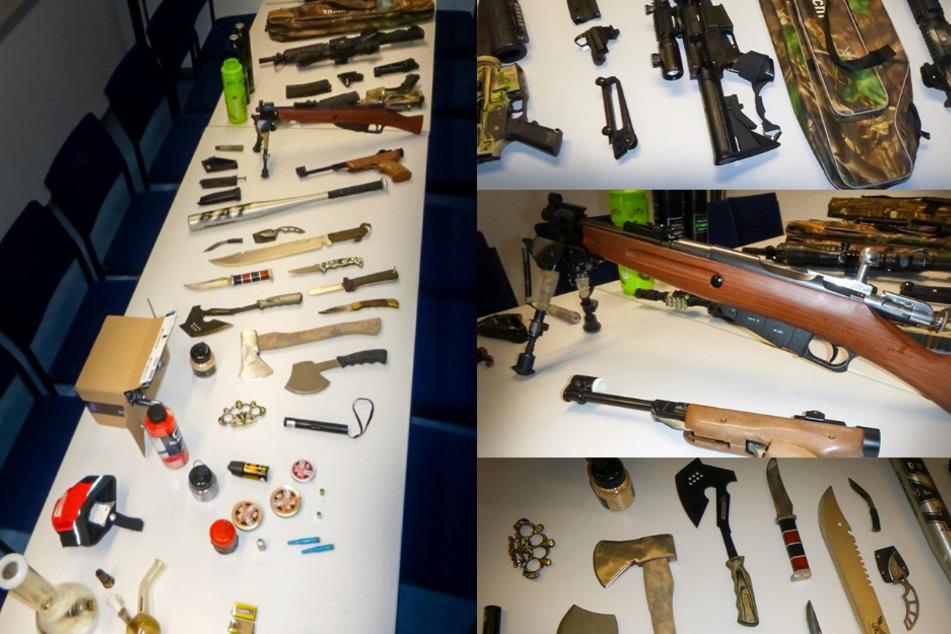 Marburg: Polizei sucht Baseballschläger und findet Waffen-Arsenal