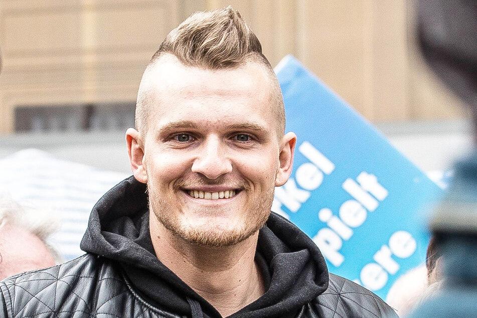 Rapper Christoph Aljoscha Zloch (28) bei einer AfD-Veranstaltung 2016 in München.