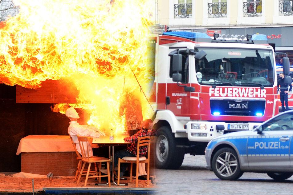 Mann brennt Weihnachtsessen an, dann gibt's eine Explosion!