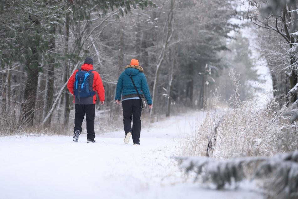 Anfang Dezember ist in Sachsen der erste Schnee in dieser Saison gefallen. Für Schneeflocken an den Weihnachtsfeiertagen stehen die Chancen nicht schlecht.