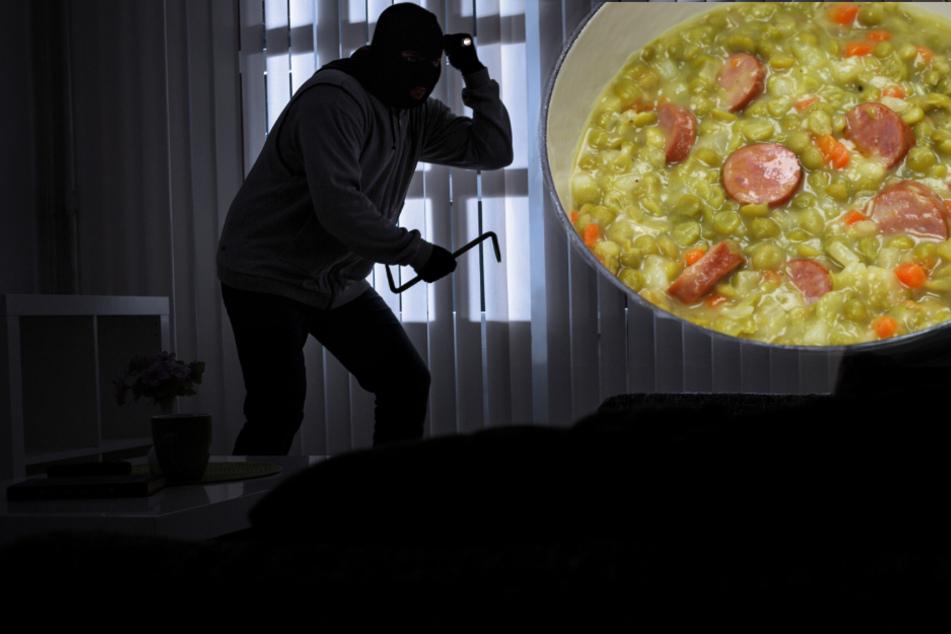 Kurios: Einbrecher mit Topf Erbsensuppe in die Flucht geschlagen!