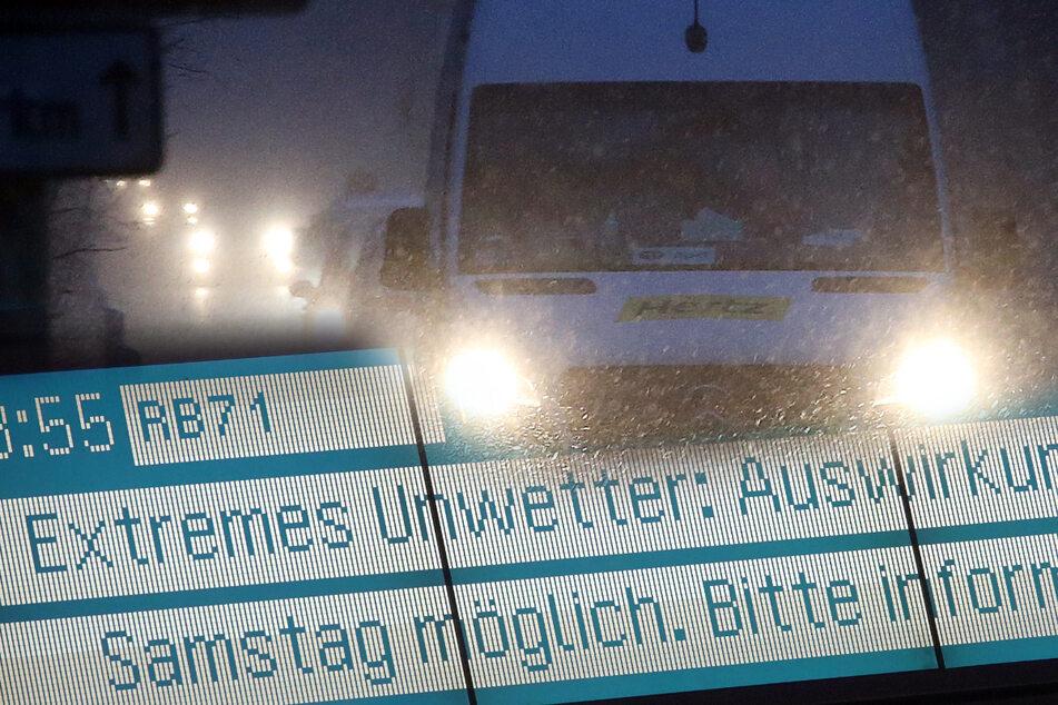 Bahn streicht Züge, Wetterdienst warnt: Bloß keine Autofahrten!