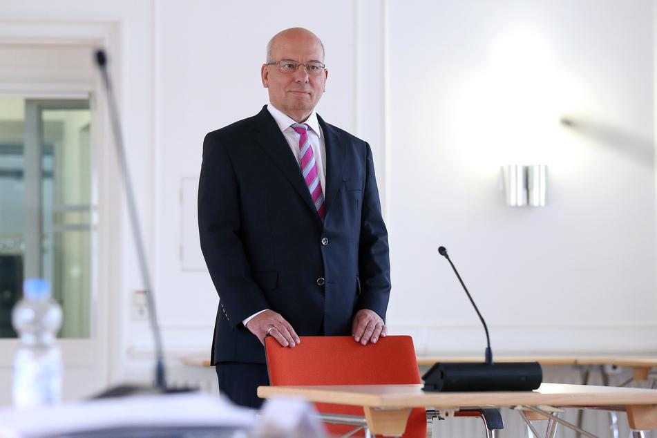 Rainer Wendt, Bundesvorsitzender der Deutschen Polizeigewerkschaft (DPolG), vor dem Untersuchungsausschuss zum Terroranschlag in Halle.