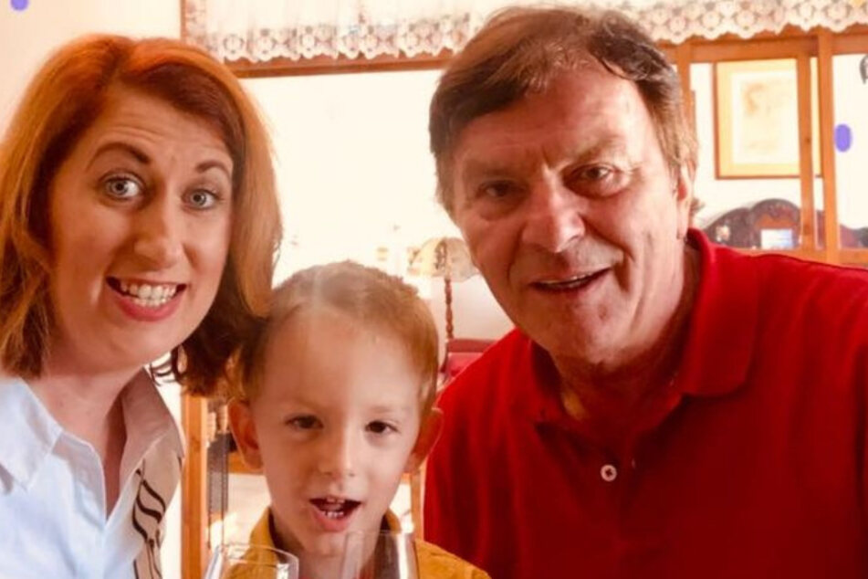 Er feierte seinen Geburtstag mit Frau Monika (35) und Sohn Maximilian (3).