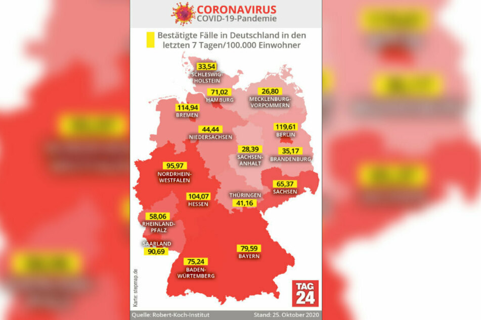 Die aktuellen Corona-Zahlen aus Deutschland in der Übersicht.