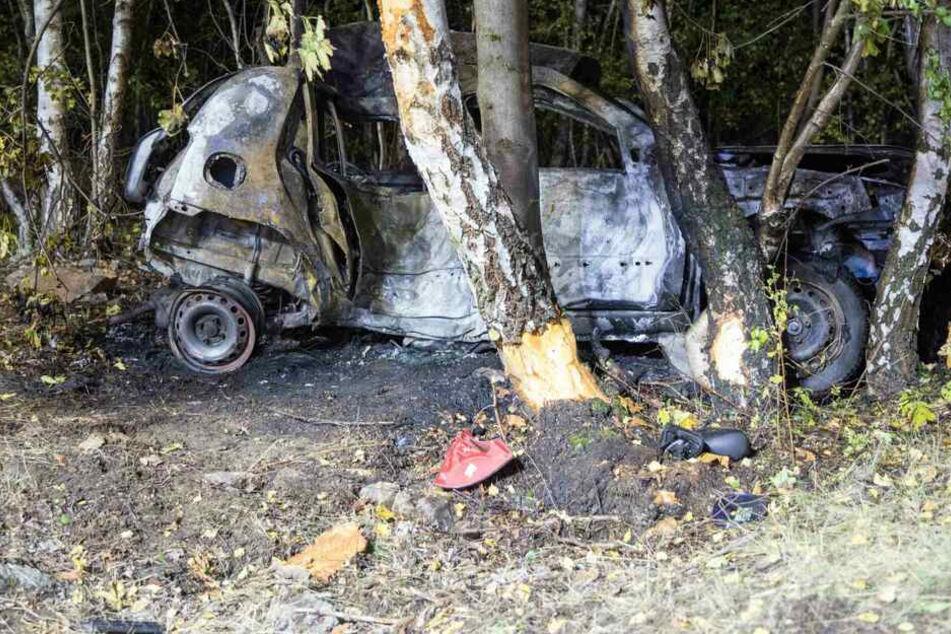 Horror-Crash: Renault-Fahrer verbrennt in seinem Auto