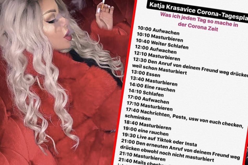 Essen, Rauchen, Masturbieren: Das ist Katja Krasavices Corona-Tagesplan