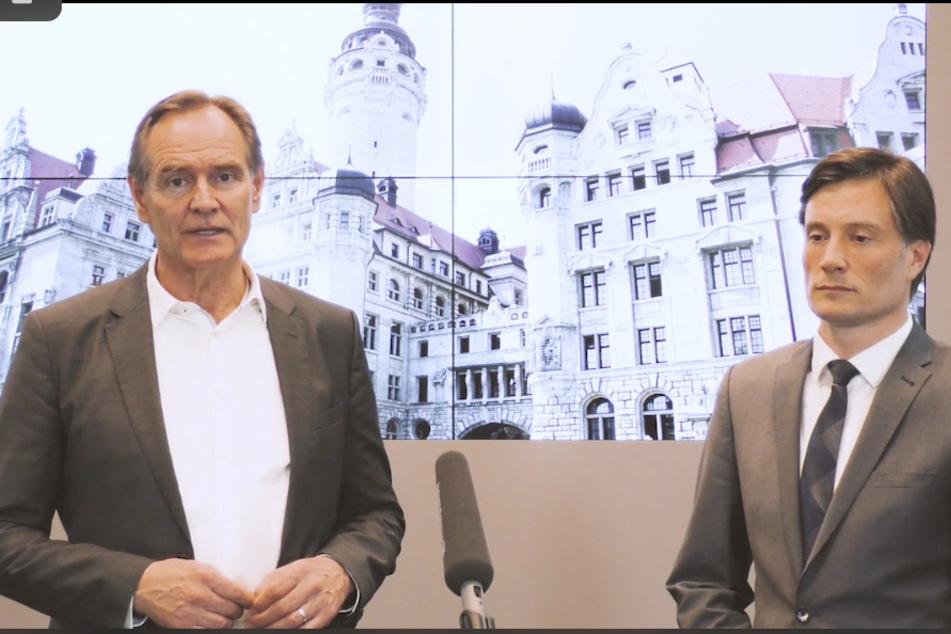 Oberbürgermeister Burkhard Jung (l.) und Heiko Rosenthal, Bürgermeister für Umwelt, Ordnung und Sport.