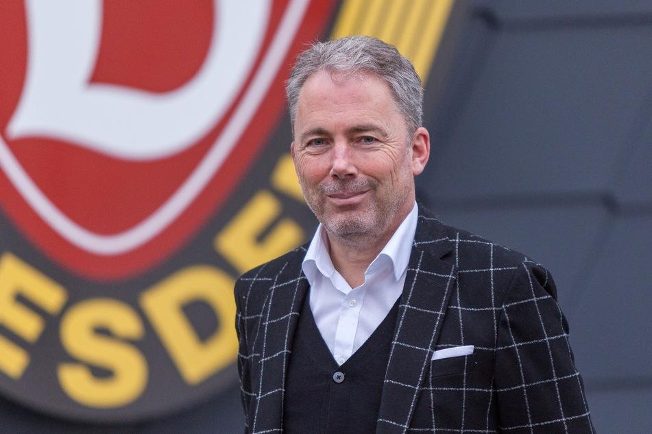 Jürgen Wehlend bei seiner Vorstellung als kaufmännischer Geschäftsführer von Dynamo. Der 55-Jährige ist gebürtiger Dresdner und kehrt jetzt in seine Heimatstadt zurück.