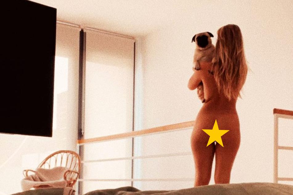 Welche Blondine zeigt uns denn hier ihre sexy Kehrseite?