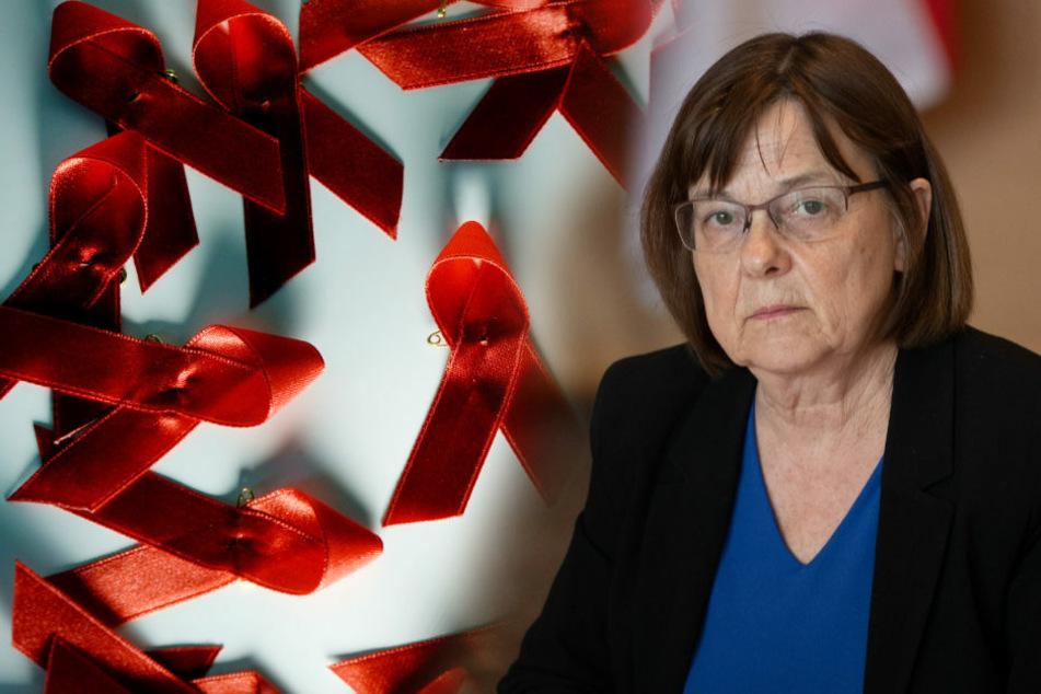 Brandenburgs Gesundheitsministerin Ursula Nonnemacher (63, Bündnis 90/Die Grünen) zeigte sich am Montag bestürzt über das Halbwissen in der Bevölkerung zum Thema AIDS.