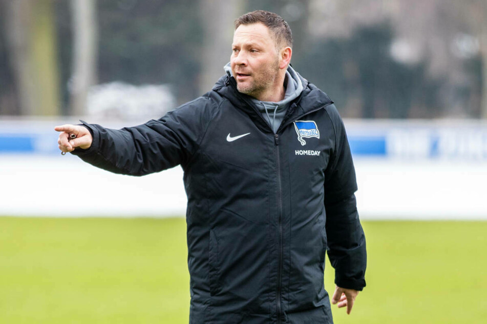Pal Dardai (44) gibt Anweisungen während des Trainings. Vor dem Spiel gegen den FC Augsburg sei die Trainingswoche sehr gut verlaufen, wie der Hertha-Coach bei der Pressekonferenz mitteilte.