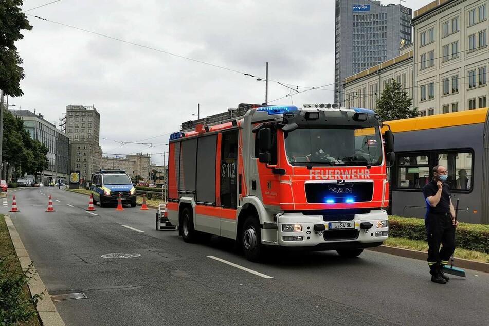 Die Straße am Augustusplatz musste zwischenzeitlich gesperrt werden.