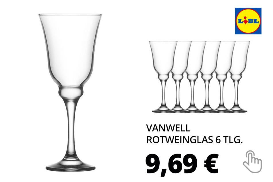 vanWell Rotweinglas Resital 6 tlg.
