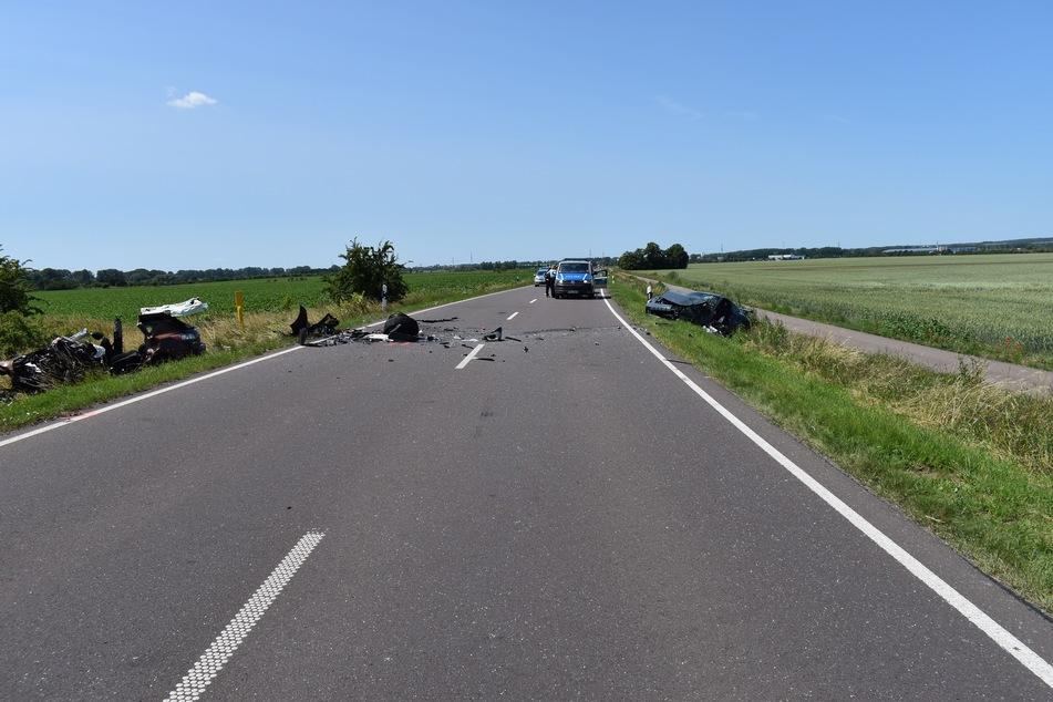 Auf der B246 stießen die beiden Autos zusammen.