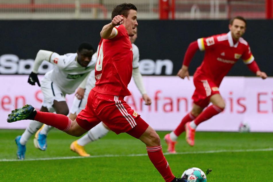 Max Kruse (32) trat gegen Hoffenheim in der 9. Minute zum Elfmeter an und verwandelte sicher zur 1:0-Führung von Union Berlin.