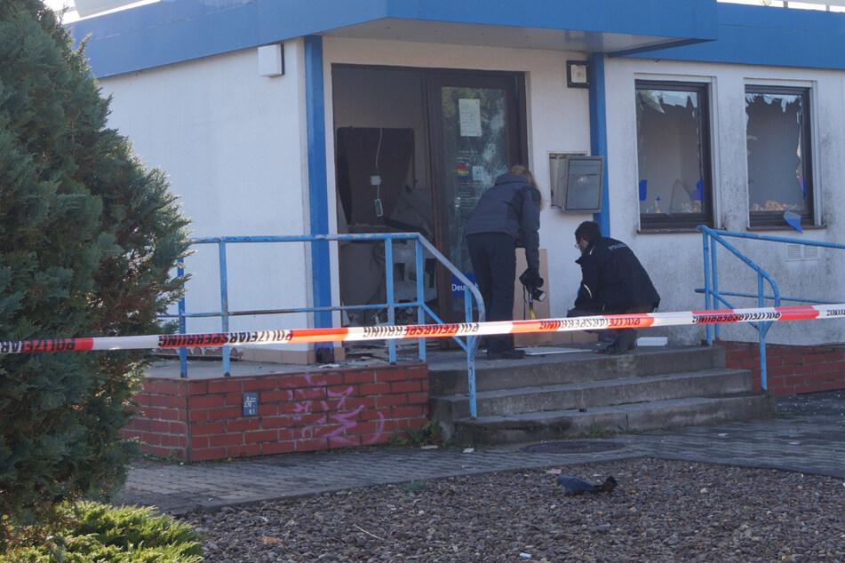 Die Filiale ein Schlachtfeld: Hier wurde ein Geldautomat gesprengt