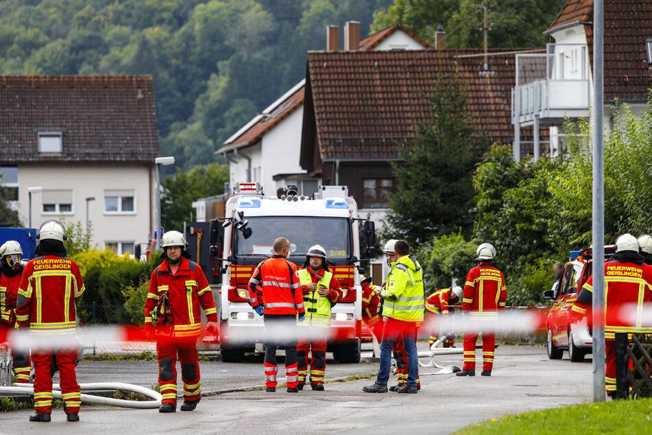 Einsatzkräfte am Mittwoch in Geislingen an der Steige.