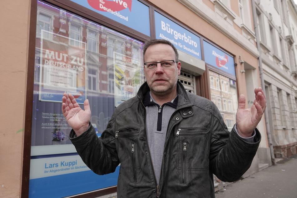 Wohnt wieder in seiner Heimatstadt Döbeln: AfD-Landtagsabgeordneter Lars Kuppi (49).