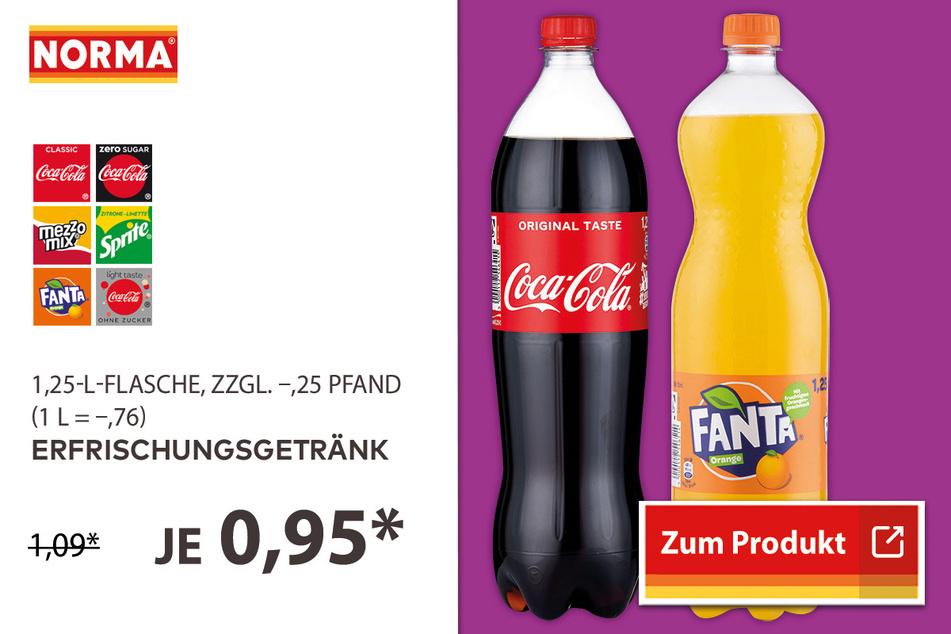 Erfrischungsgetränke für 0,95 Euro