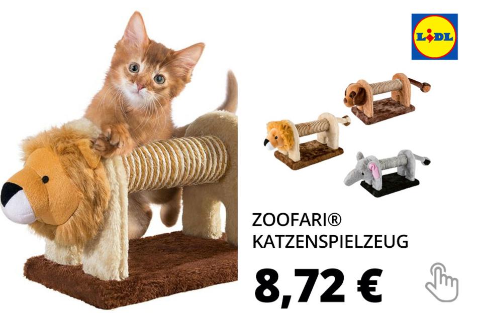 ZOOFARI® Katzenspielzeug, mit Rassel, aus Sisal und Plüsch