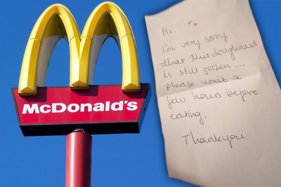 Frau findet Zettel in McDonald's Bestellung und kann einfach nicht aufhören zu lachen