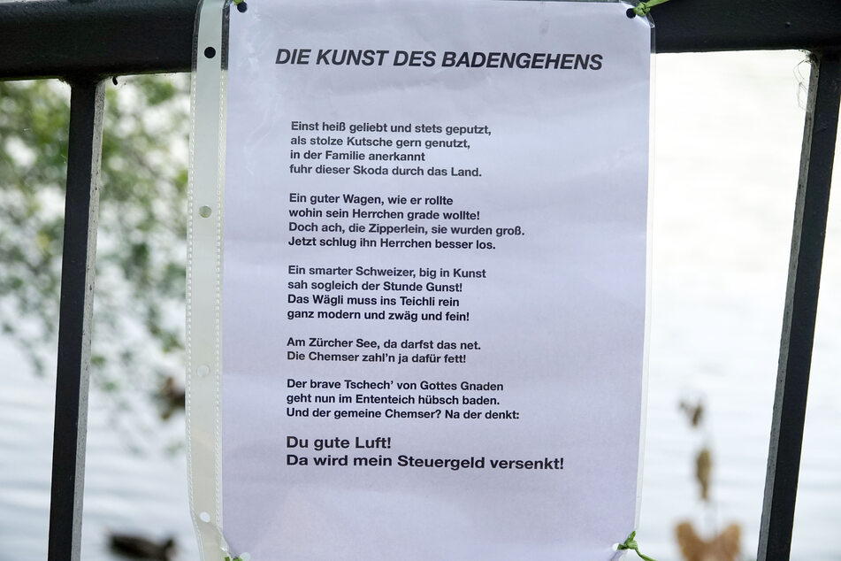 Ein anonymer Dichter verfasste ein Gedicht über die Kunstaktion.