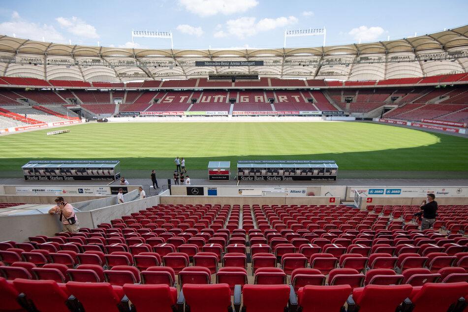 Blick in die Mercedes-Benz Arena in Stuttgart.