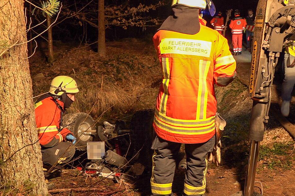Quad stürzt in Graben: 17-Jährige stirbt noch an Unfallstelle