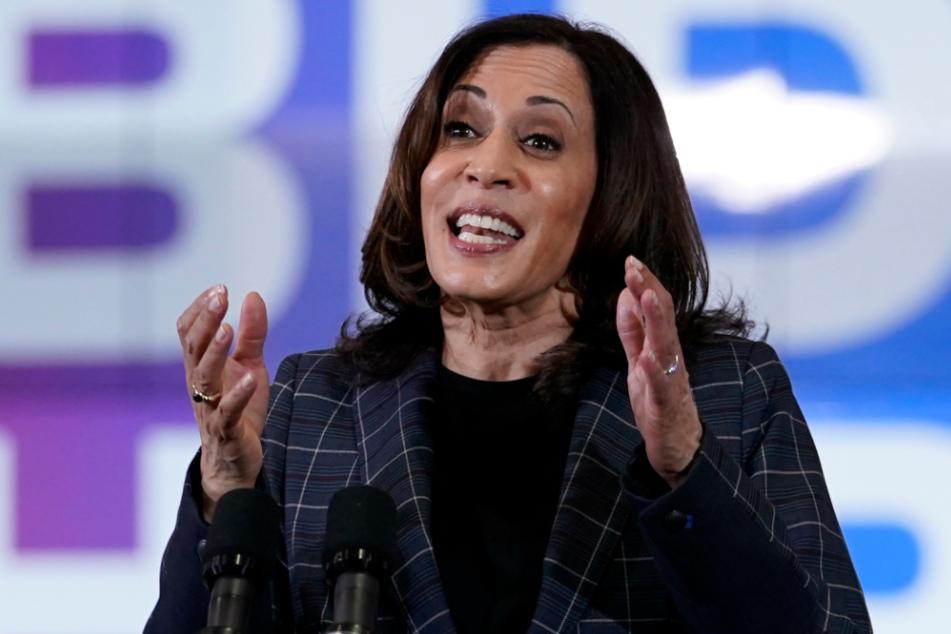 Die demokratische Kandidatin für das US-Vizepräsidentenamt, Kamala Harris (55).